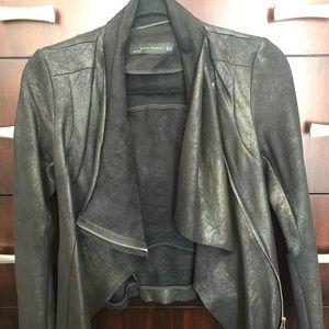 ZARA Vegan Suede-Leather Jacket
